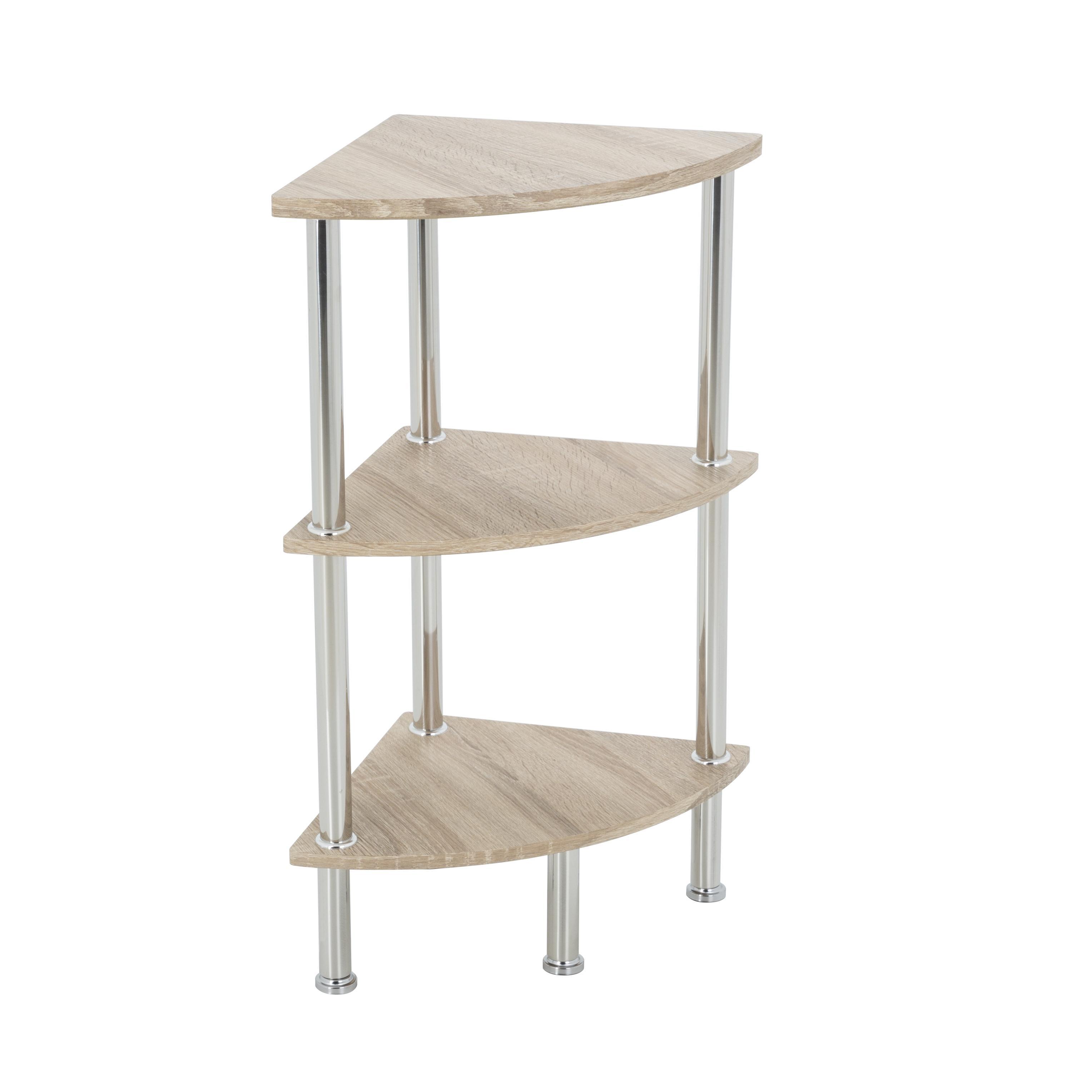 Avf s53ow a corner 3 tier shelving unit in for Avf furniture