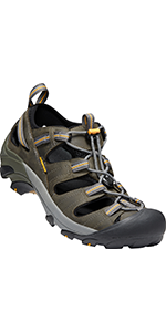mens sandals closed-toe leather hiking