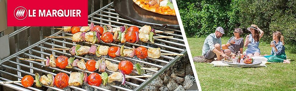 Barbecue Le Marquier Original Vulcain 61x33 Acier