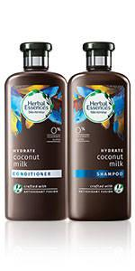Herbal Essences Coconut Milk Shampoo Conditioner collection