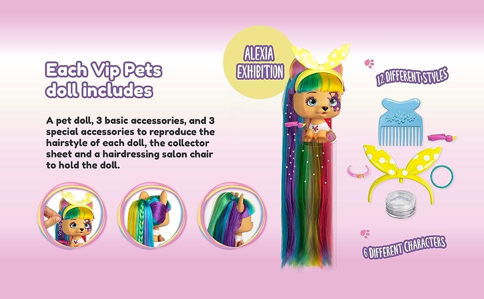 IMC TOYS 711709 Vip Pets Doggies, Assorted Color, 1 Piece