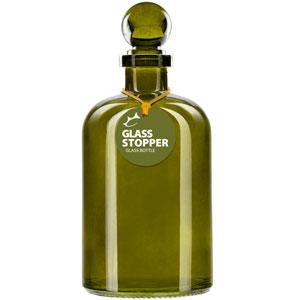 Couronne Company B6544T09 Ball Recycled Glass Bottle w// Glass Top 1 Piece 8.5 oz Aqua