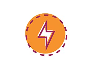 Illustration of a lightning bolt.