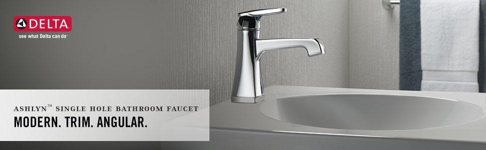 Delta 564-MPU-DST Ashlyn Single-Handle Bathroom Faucet with Diamond ...