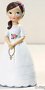 Statuetta per torta, statuetta per comunione, bomboniera, evento, festa, bambina