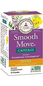 smooth move, senna, capsules, laxative, tea, wellness, constipation