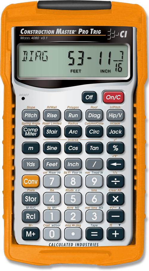 Calculated industries 4080 construction master for Home building calculator