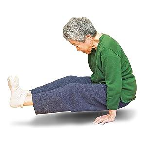 寝たきり 浮き上がる 手の力 全身 持ち上がる 腰 のびる まっすぐ 背中 体幹 スーパーおばあちゃん