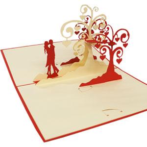 Lin Pop Up Karten Hochzeitskarten Hochzeitseinladungen
