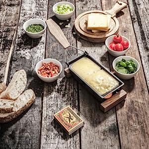 Metled Cheese Raclette Partyclette Boska Holland Cheesewares