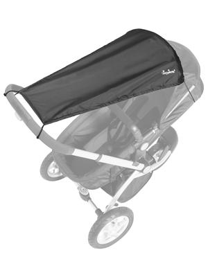 Farbe: SCHWARZ Sonnenschutz Markisen-Rollofunktion Qualit/ät: MADE in GERMANY sunnybaby 11272 Universal Sonnensegel f/ür Kinderwagen /& Sportwagen h/öchster UV Schutz UPF 50+ verstellbar