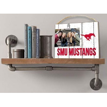 Southern Methodist Mustangs Clip It Weathered Logo College Photo Frame