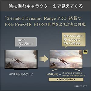X-tended Dynamic RangePRO搭載でPS4Proの4KHDRの世界を忠実に再現