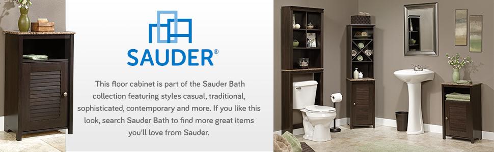 Amazon.com: Sauder Peppercorn Floor Cabinet, Cinnamon Cherry ...