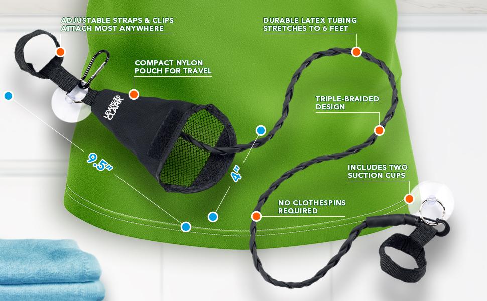 Portable Clothesline Adjustable Travel Clothesline travel accessory clothing flexible durable