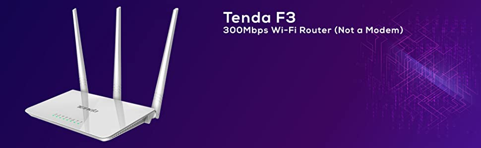 300 Mbps Wi-Fi Router Tenda Wireless Router Without Modem Router