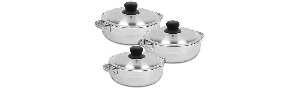 Amazon.com: IMUSA USA GAU-89226 - Caldero de aluminio pulido ...
