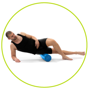 ProSource foam roller for back, lower back, yoga roller, physical therapy