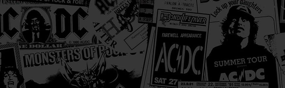 AC//DC Red Logo Kapuzenpullover schwarz M