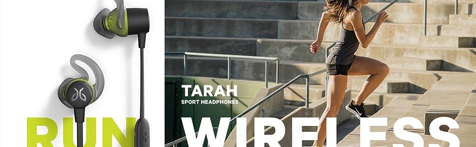 Tarah, audífonos deportivos, Jaybird, Audífonos inalámbricos, audífonos contra agua