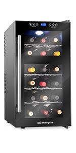 Orbegozo VT 2410 Vinoteca de 24 Botellas, Dos Zonas de Temperatura ...
