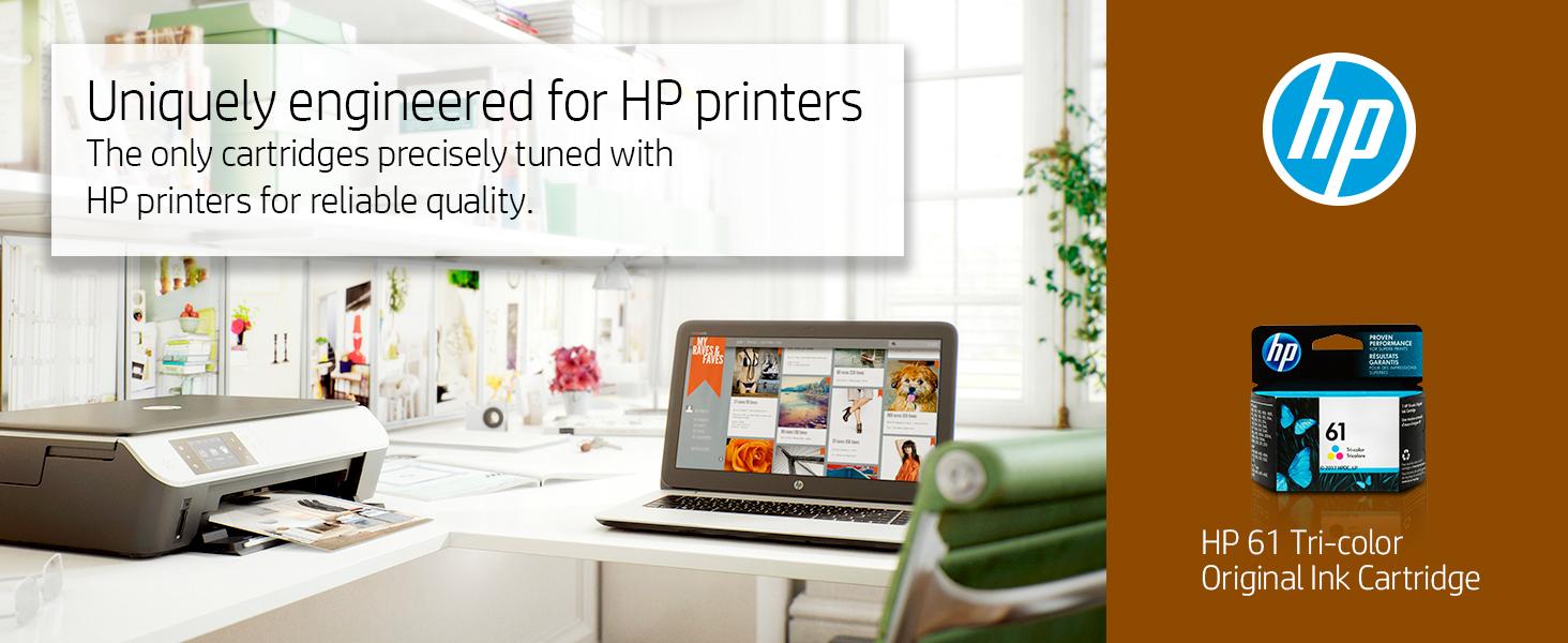 61 color tri-color black xl combo pack hp ink cartridges cartridge printer Hewlett Packard