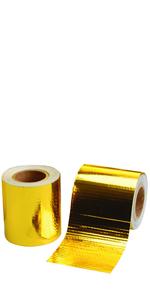 "Performance Reflect A Gold Exhaust Manifold Heat Wrap Reflective Tape 1.5/""x15/'"