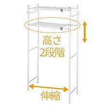 横幅が伸縮、下の棚は高さを2段階から選べる