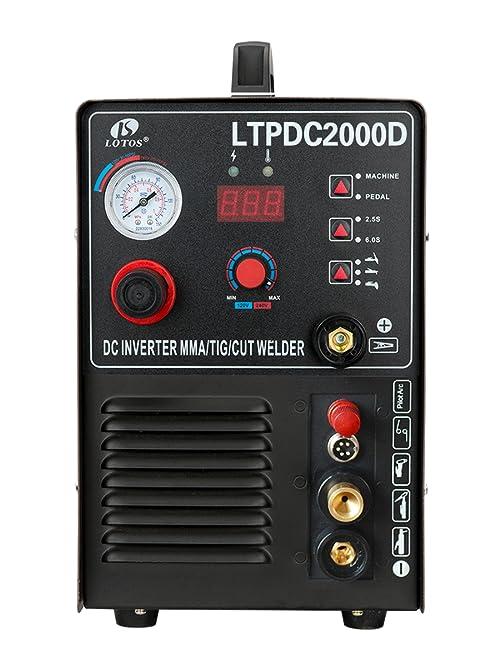 Lotos LTPDC2000D Pilot Arc 50 A Plasma Cutter /200 A TIG/Stick Welder
