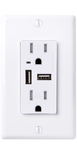 faith gfci outlet white gfi receptacle usb charging port high speed