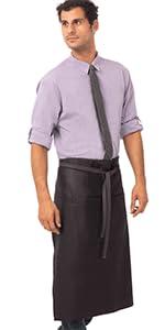Chef Works Unisex Boulder Bistro Apron, Purple/Black