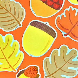 Amazon Com Carson Dellosa Leaves Acorns Colorful Cut Outs Fall Classroom Décor 36 Pieces Assorted Designs Office Products