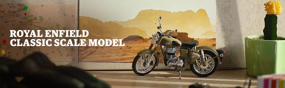Scale Model,3D scale model,Bike toys,Royal Enfield, Bullet,Classic, Model Toys, Bike Model