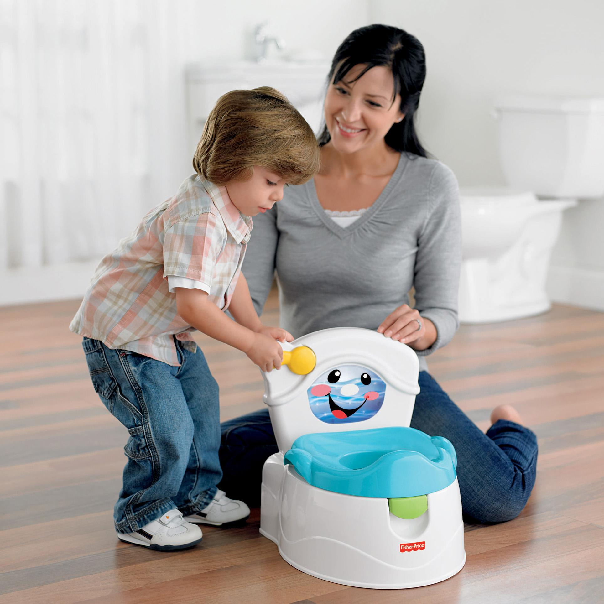 Training: Amazon.com : Fisher-Price Learn-to-Flush Potty : Toilet