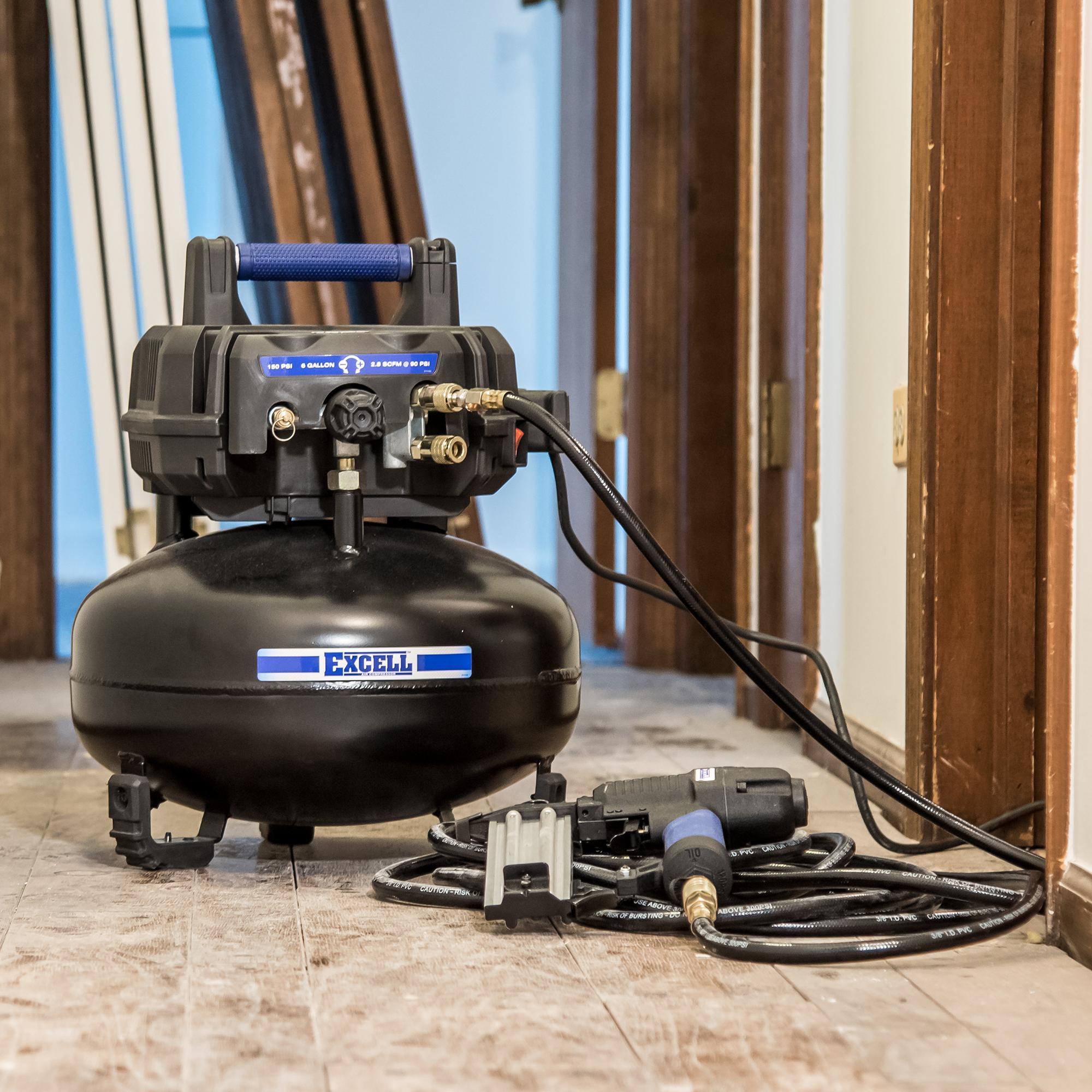 Amazon.com: Excell U256PPE 6 Gallon Pancake Air Compressor