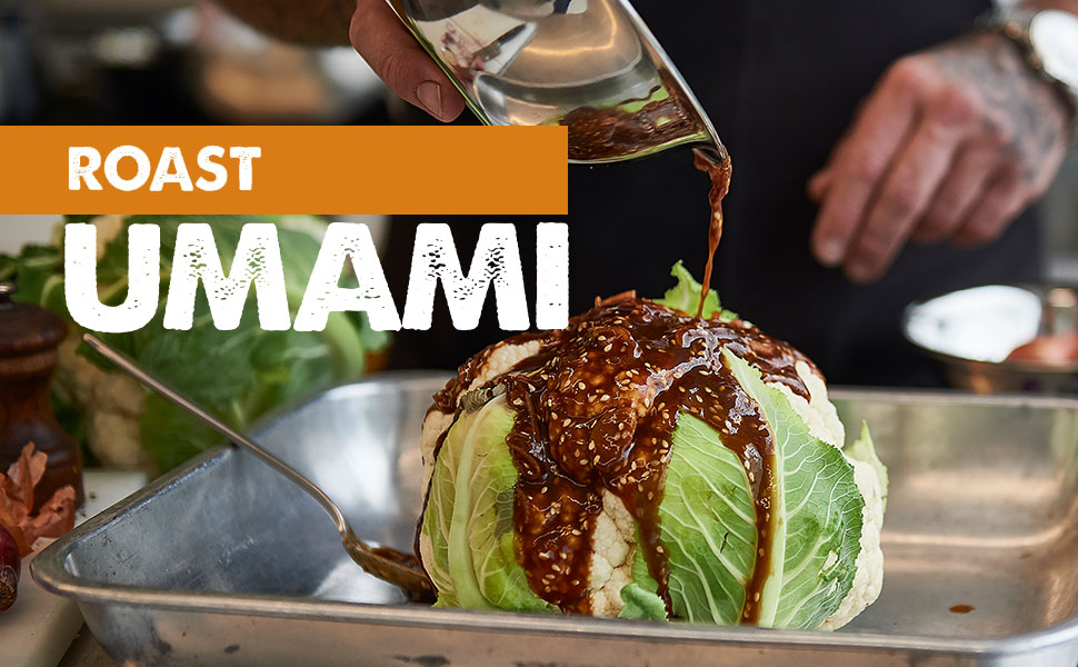 roast, umami, knorr, cauliflower, intense, flavour, cook, cooking, seasoning
