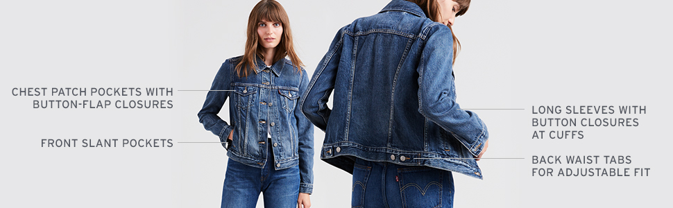 Levis Denim Trucker Jacket Fit & Features