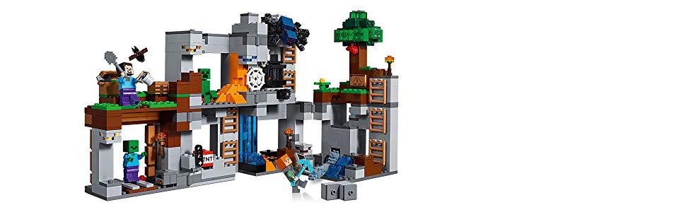 LEGO Minecraft Abenteuer In Den Felsen Minecraft Minifiguren - Lego minecraft spiele kostenlos