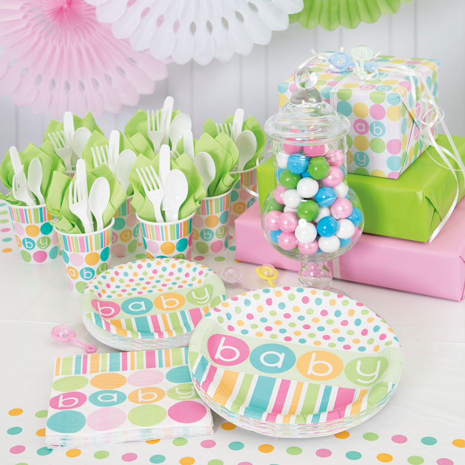 Amazon Pastel Baby Shower Wrapping Paper Kitchen Dining