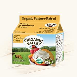 organic heavy whipping cream whip organic valley dairy non-gmo