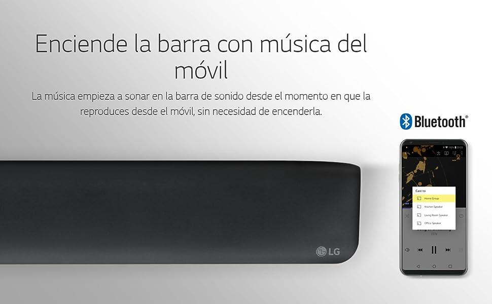 LG SK1 - Barra de Sonido 2.1 con Diseño Compacto (40 W, Bluetooth ...