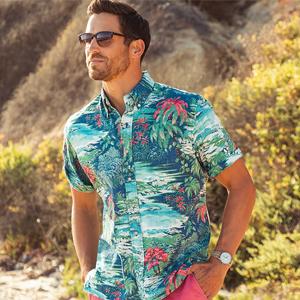reyn spooner hawaiian aloha shirt waterfall valley