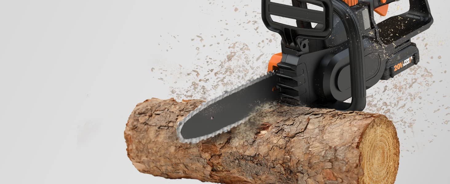 This is a chainsaw almost anyone can use. Light enough so that it's easier to control.