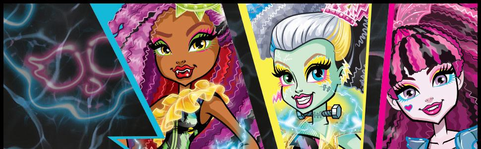 Monster High DVH66 Electrified Hair Raising Ghouls Silvi