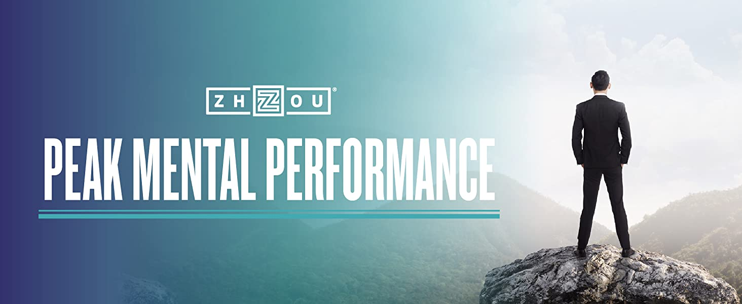 Neuro Peak by Zhou Nutrition giving a man on a mountain a feeling of peak mental performance