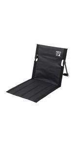 キャプテンスタッグ アウトドアチェア チェア グランドチェア フィールド座椅子 収納バッグ付き ブラック グラシア UC-1803