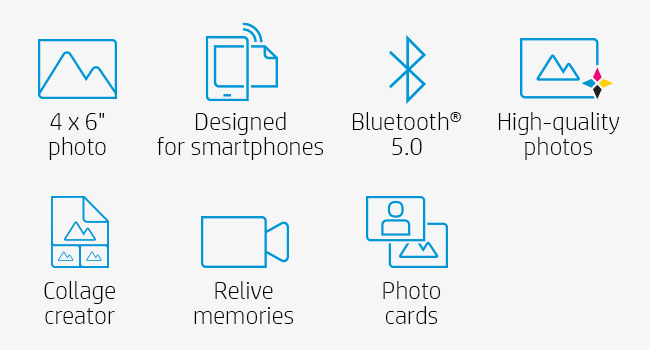 bluetooth smartphone printing collages memories high-quality photos
