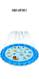 Sprinkler for Kids outdoor sprinkler water toys sprinkler mat for kids Kiddie Splash Pad Toys