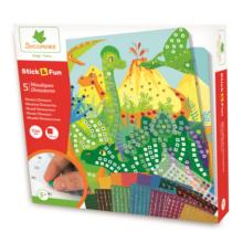 dinosaure;loisir creatif;jeux;jouet;mosaique;sycomore;stick;fun