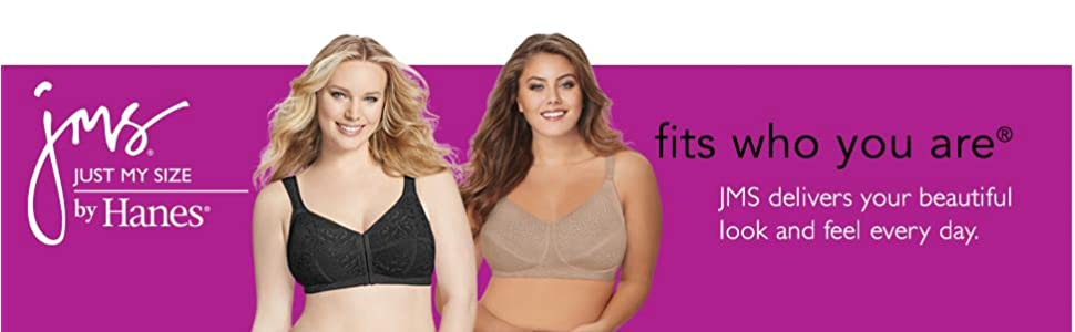 59d38be28d Just My Size Women s Satin Stretch Wire-Free Plus Size Bra (1960) at ...